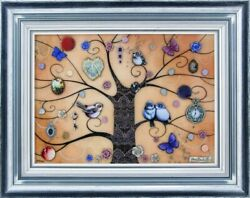 Kerry Darlington Xl Lace Tree 2015 Unique Edition Print With Resin And 3d Element