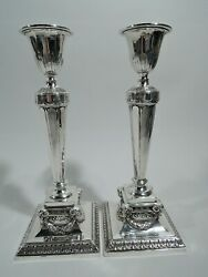 Gorham Candlesticks - A11516 - Antique Neoclassical - American Sterling Silver