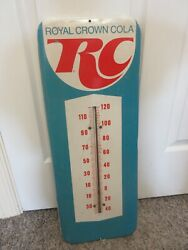 Vintage Advertising Royal Crown Soda Cola Tin Thermometer Store A-710