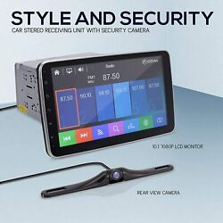 10.1-inch Single Din Car Stereo - Bluetooth Indash Car Stereo Touch Screen Rcvr