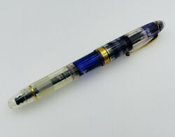 Omas Vintage Clear Vision Plastic And Gold Trim Fountain Pen