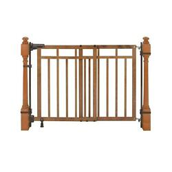 Wooden Stair Baby Gate Dual Installation Kit Child-proof Doorways 33-inch Tall