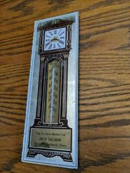 Shelbyville Illinois Coal Grandfather Clock Antique Advertising Thermometer