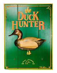 Vintage The Duck Hunter Is Wooden Duck Decoy Wall Hanging By Ted Taber