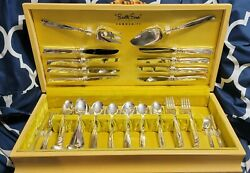 Oneida South Seas 56 Pc Silver Dinner Set And Chest Community Flatware + Extras ⭐