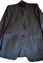 4.4k Nwt Tom Ford 46 Eu56 R Charcoal Shadow Check Fit A Wool Silk Mohair Suit
