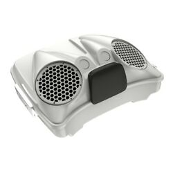 Stone Washed White Pearl Dual 8and039and039 Speaker Lids Fits Advanblack/harley Razor Tour