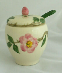 Franciscan Desert Rose Jam/jelly Condiment Jar With Spoon California Stamp