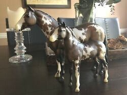 Breyer Traditional Overo Paint Mare and Foal Set