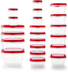 Rubbermaid Easy Find Vented Lids Food Storage Containers, Set Of 21 42 Pieces T