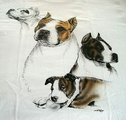 American Staffordshire Terrier T shirt quot; White quot; SM 34 36