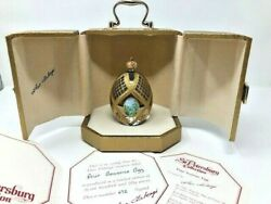 Faberge Four Seasons Egg Signed In Box St. Petersburg Collection 672/750 Coa