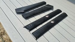 1968 Dodge Charger Front And Rear Upper Door Bolster Pad Black Oem Free Shipping