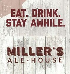 Millerandrsquos Ale House Gift Card 100 Physical Gift Card