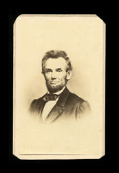 Rare 1860s Abraham Lincoln Cdv Photo By Gurney - Spiked Hair