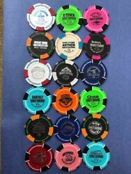 Lot Of 216 U.s. Harley Davidson Signature Poker Chips...all Different