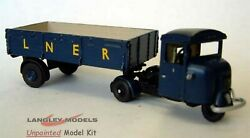 Lner Scammell Mech Horse Lowside Flatbed G2 Unpainted Oo Scale Langley Model Kit