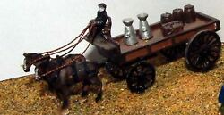 Horse Drawn Delivery Trolley 2 Horses E15 Unpainted N Gauge Scale Models Kit