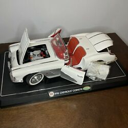 Gearbox Collectables 1/12 White 1958 Chevrolet Corvette Missing Top