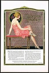 1920s Original Vintage Holeproof Hosiery Stocking Brierly Pin Up Art Print Ad