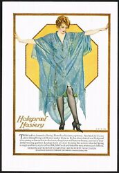 1920s Vintage Holeproof Hosiery Stocking Coles Phillips Pin Up Art Print Ad