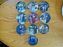 Lot Of 10 Bradford Exchange Gone With The Wind 3 1/2 Mini Collector Plates 1995