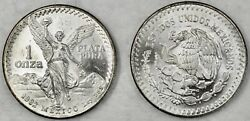 Lot Of Two 1982 Mexico's Libertad • First Year• Bullion 999 Silver Angel Unc