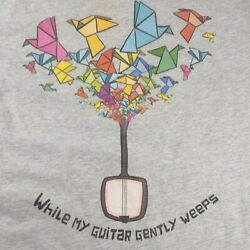 The Beatles Bella Canvas Gray Geometric Tshirt While My Guitar Gently Weeps Xl