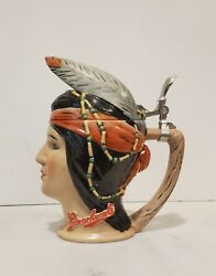 Leinenkugel Indian Maiden Character Beer Stein New No Box Limited Ed. 1516/2000