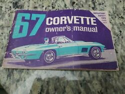 1967 Original 1st Edition Corvette Owners Manual With Full Card-ncrs Ready