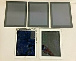 5 Assorted Apple Ipads For Scrap Parts Reuse Or Gold Recovery