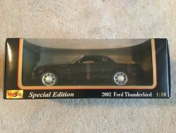 Maisto 2002 Ford Thunderbird Coupe Roadster 118 Scale Diecast Model Car Black