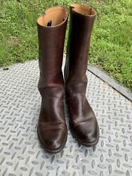 Frye Womenand039s Maxine Campus Boot Style 77986 Pull On Brown Leather Boots Sz 10 B