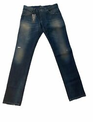 Dolce And Gabbana Mens Skinny Jeans Blue 995 Size 34/32
