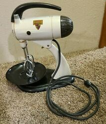 Vintage Sunbeam Mixmaster 10-speed Electric Mixer, Stand Or Hand-held, 1950's