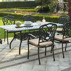 Darlee Florence 7 Piece Patio Dining Set With Rectangular Table - Antique Bronze