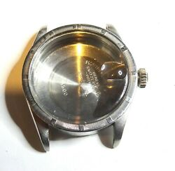 Rolex Genuine S/s Vintage Oyster Perpetual 1500 Case , Crown And Crystal.