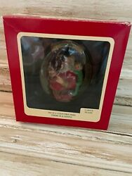Vintage Carlton Cards Heirloom Christmas Ornament There Is A Santa Nice