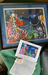 Disney Cel Stitch Le 300 With Pin And Signed Artist Card Stitch Escapes