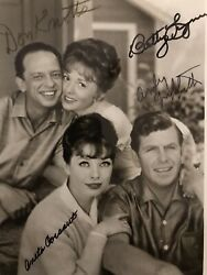 Andy Griffith Show - Black And White 8x10 Cast Signed By 4