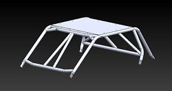 2014+ Rzr Xp 2 Seat Flat Weld It Yourself Cage Kit Cage + Roof Kit