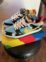 Nike Sb Dunk Low Ben And Jerryand039s Chunky Dunky Menandrsquos Size 11.5 Black/gold/lagoon