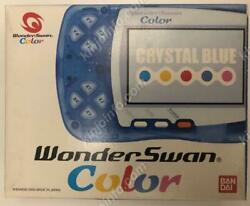 Wonder Swan Color Crystal Blue Backlit Ips Lcd Secondhand Wsc Console