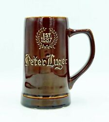 Vintage Iconic Peter Luger Steakhouse Restaurant New York Nyc Stein Mug Cup