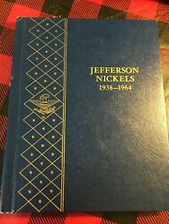 Jefferson Nickel Collection 1938-1964 Whitman Book 9410 Almost Set 68 Coins
