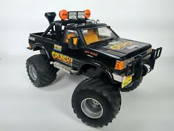 Vintage KING CRUNCH 4x4x4 MONSTER TRUCK Battery Operated New Bright 80s RC