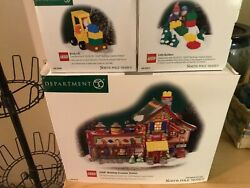 Dept 56 North Pole Lego Building Creation Station + Two Accessories