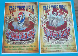 Grateful Dead 50th Posters Santa Clara And Chicago Dead And Company Fare Thee Well