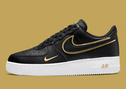 Nike Air Force 1 And03907 Lv8 Shoes Black Gold White Da8481-001 Menand039s Multi Size New