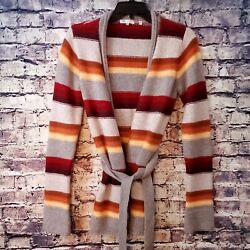 Vince Womenand039s Fall Colored 100 Cashmere Belted Cardigan Sweater Size M